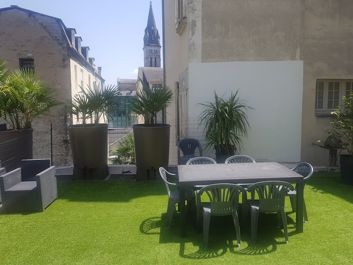 Grand appartement terrasse proche sanctuaires