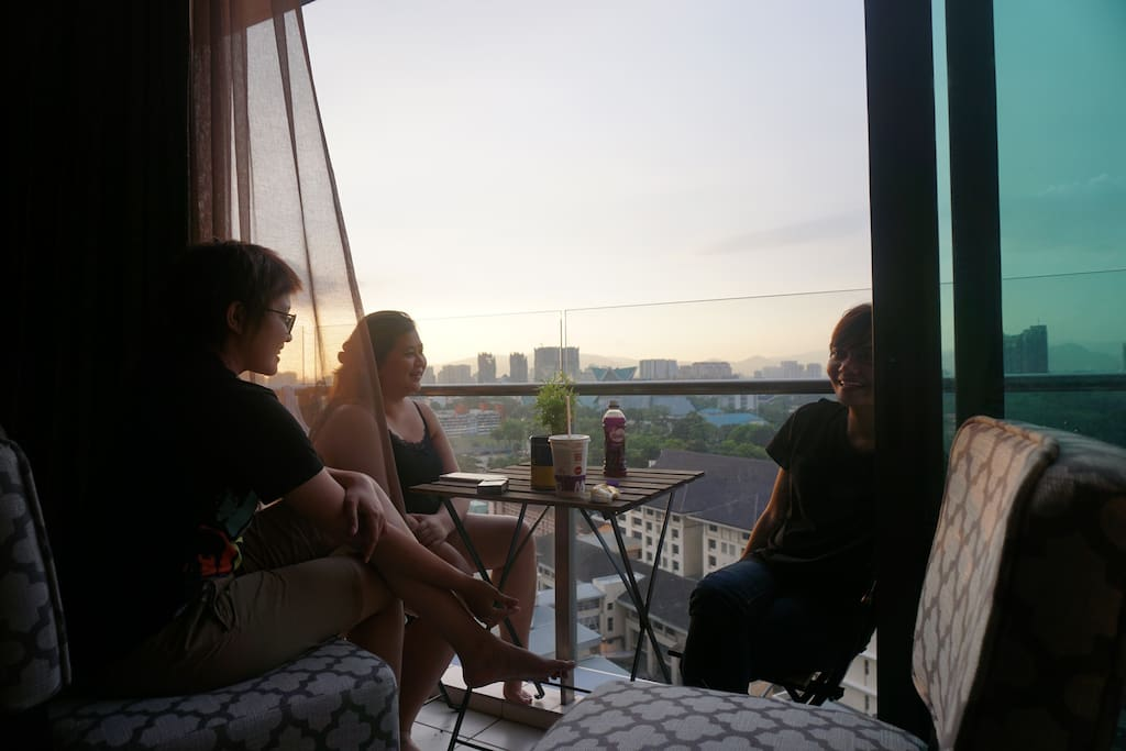 Our place is a really nice place for families and friends to gather and watch sunset together