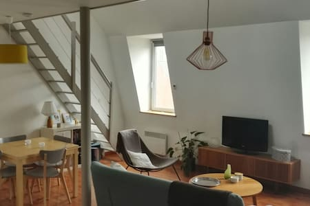 Bel appartement mezzanine atypique - Lille