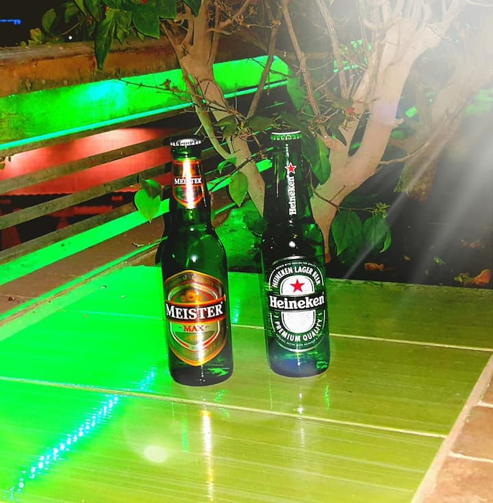 Beers served at Carlton Roof Garden