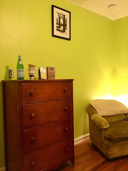Dresser and reading chair