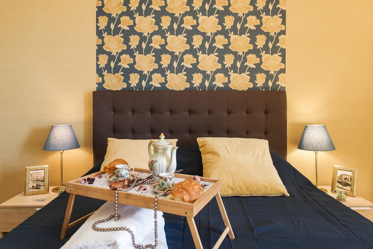 Your beautiful private bedroom, cozy bed and new interior:)