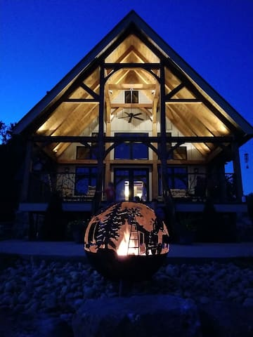 our custom made fire pit will have you mesmerized