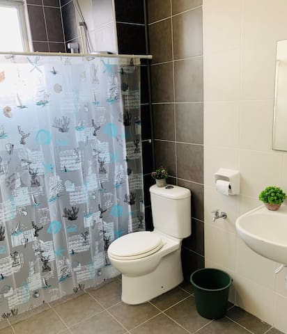 Attached bathroom of Master Bedroom. Wet yourself with the shower with heater!!!
