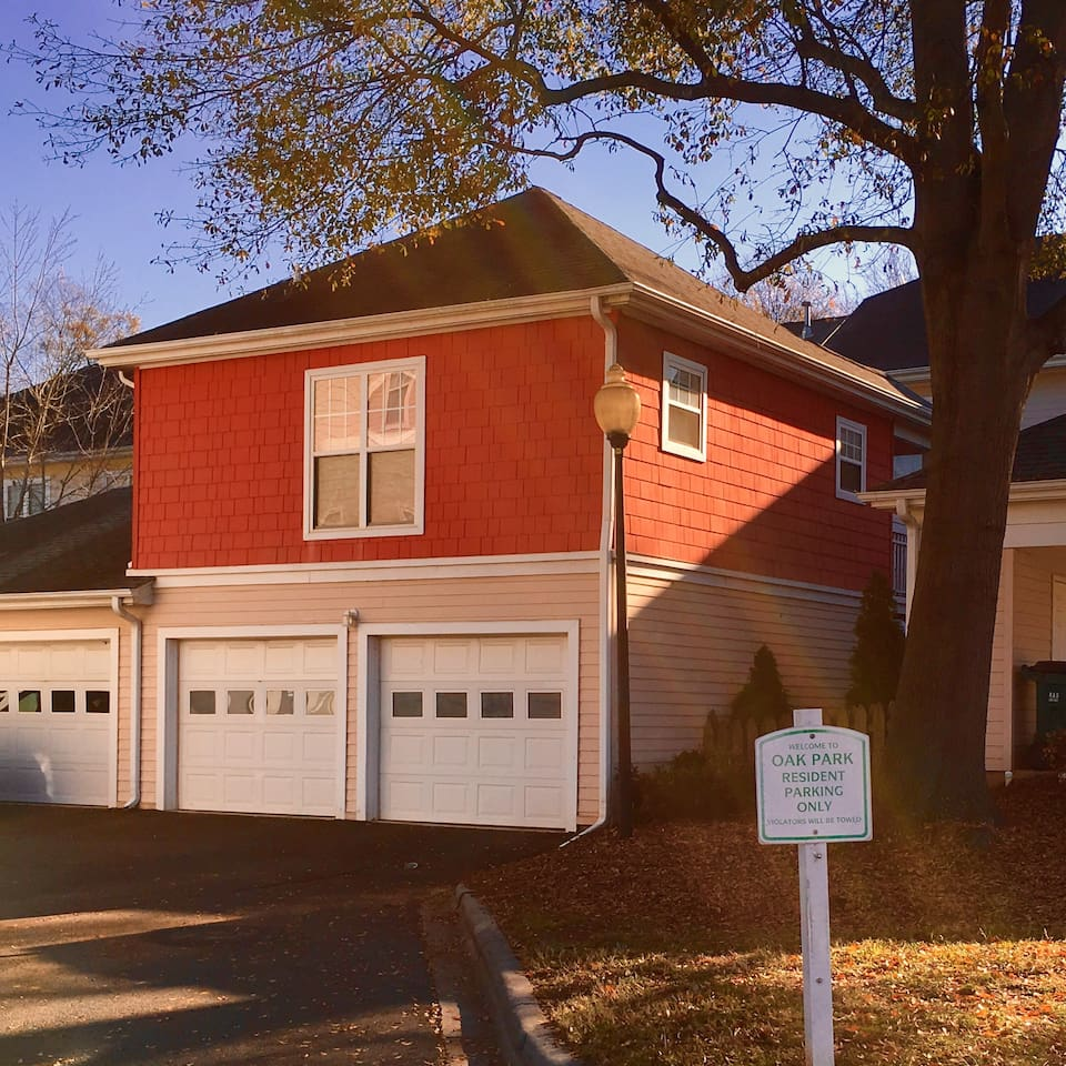 Welcome to your sunny Charlotte home away from home with windows on all sides. Feel free to securely park in our garage.