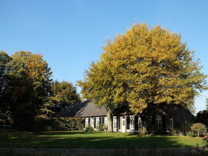 Historische langgevelboerderij midden in de natuur