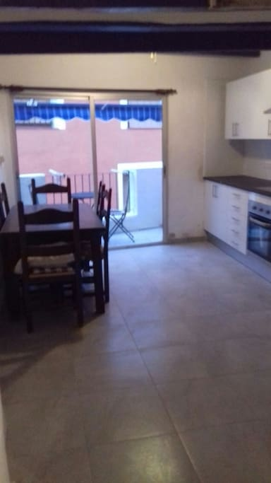 New kitchen showing kitchen terrace with sea view