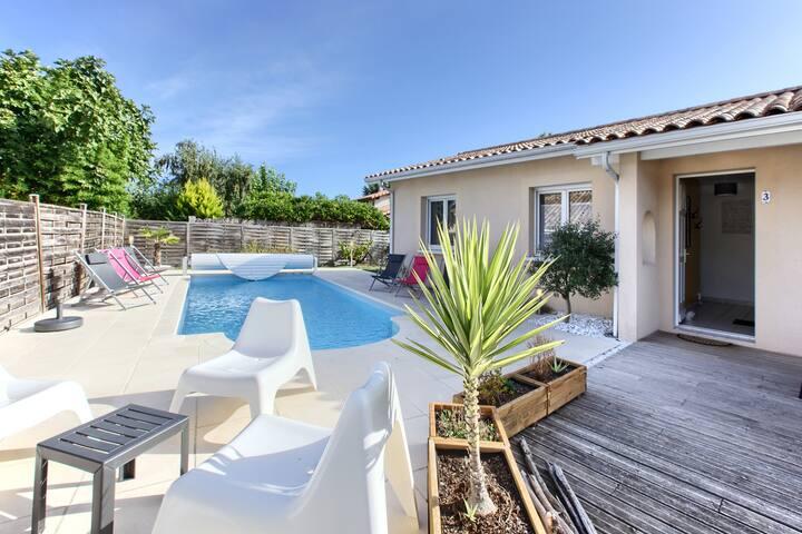 Bassin d'Arcachon : Villa avec piscine privée