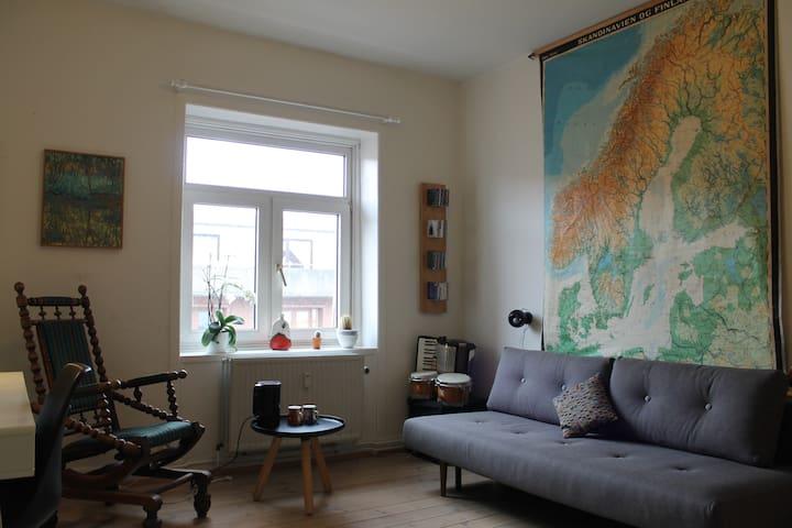 Charming Copenhagen room in quiet street