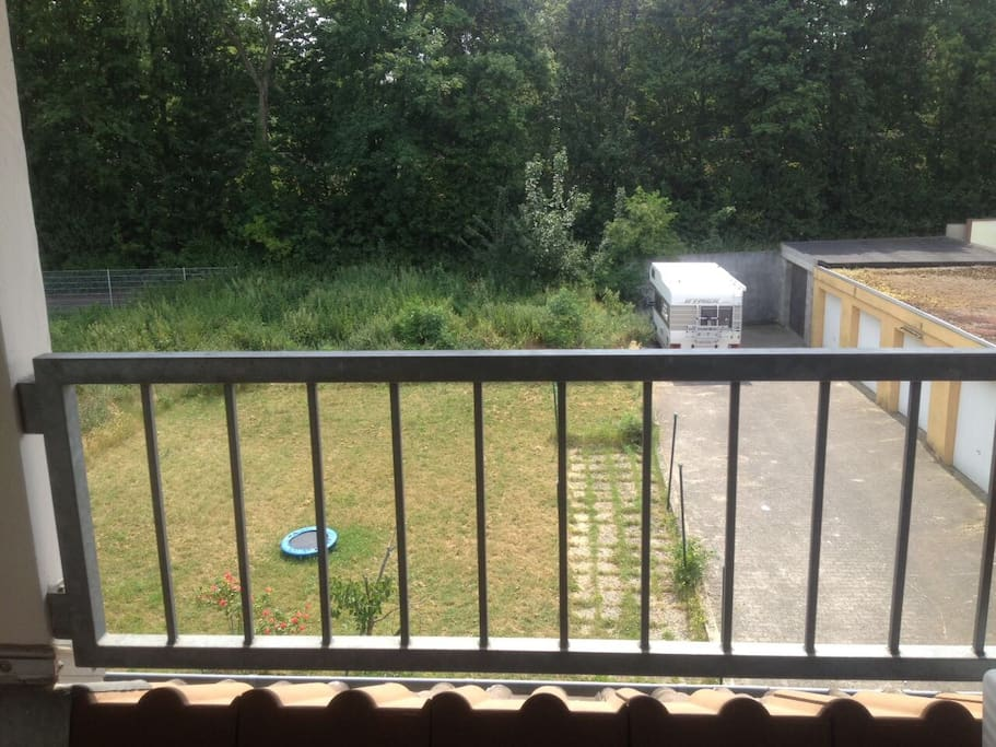 Balkon, Ausblick Garten