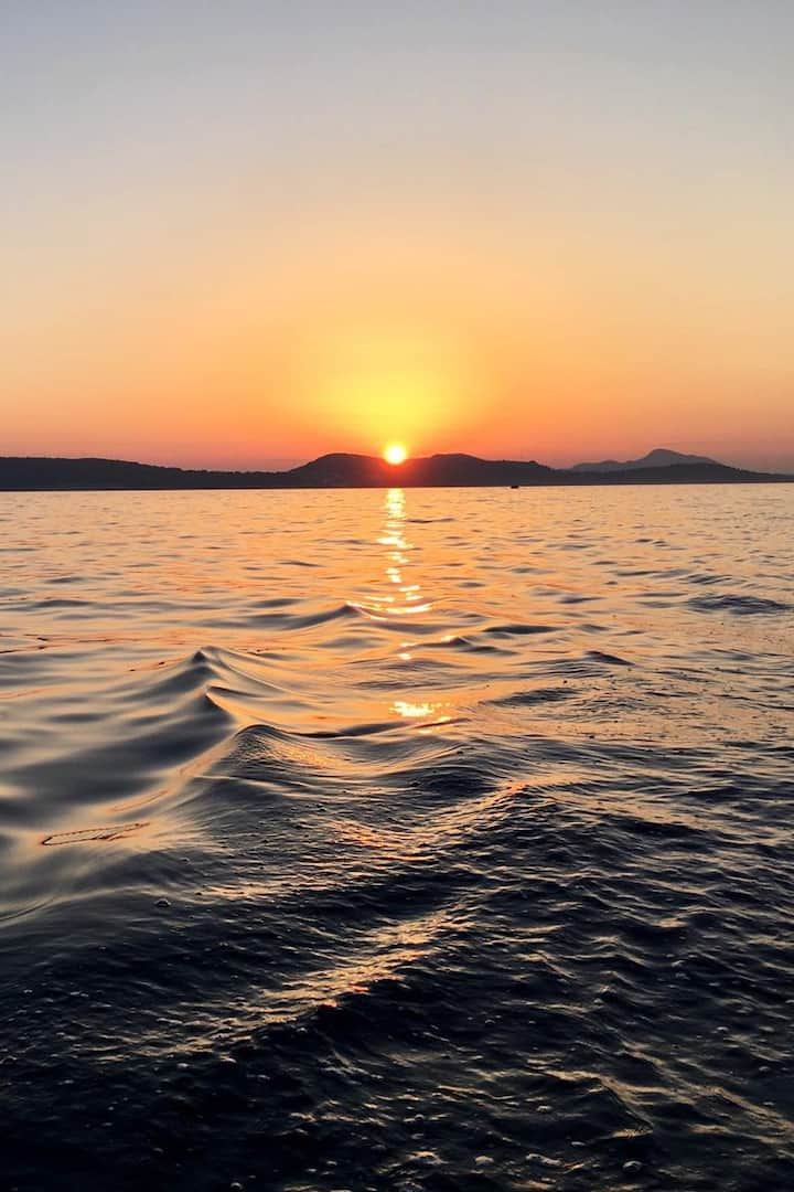 Sea behind the islands