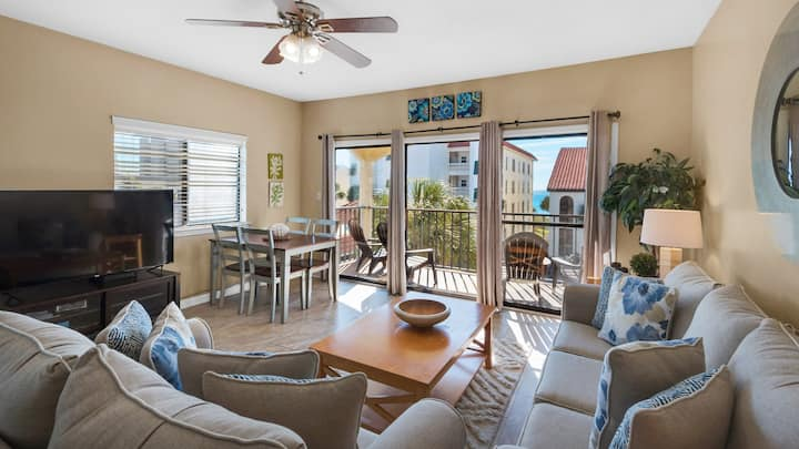 Come relax in this comfortable one bedroom gulf side condo along 30-A - Palms D7
