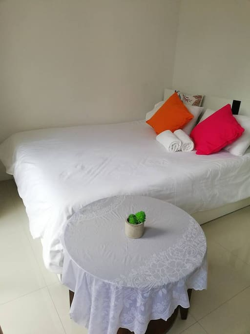 Double bed room with balcony