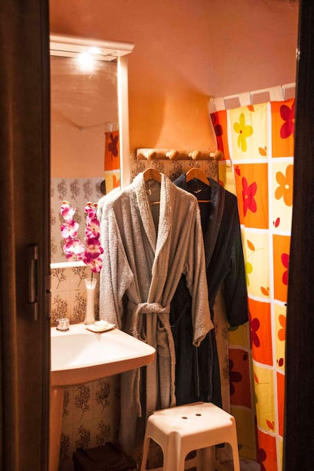 Ensuite facilities.Easy access to the large shower. Soap and towels included.