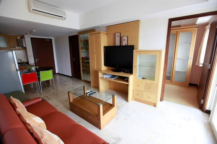 Braga City Walk 2BR Apartment - Great Location