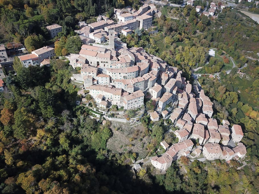 Our apartment is in the upper borgo, the medieval village
