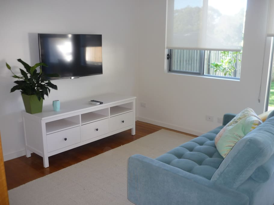 Comfortable Living space with Reverse Cycle Air Conditioning and TV.