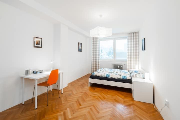 Spacious flat, 10 min to center