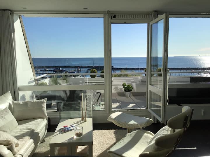 Ostsee-Blick Ferienwohnung, Whirlpool, Balkon