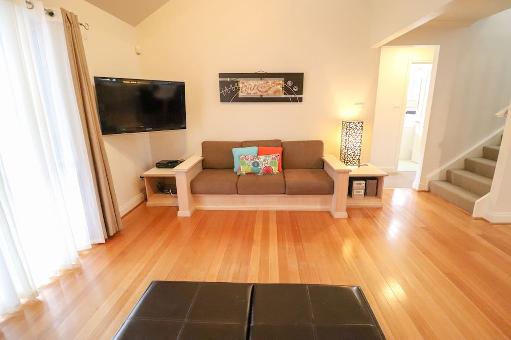 Large lounge area with TV