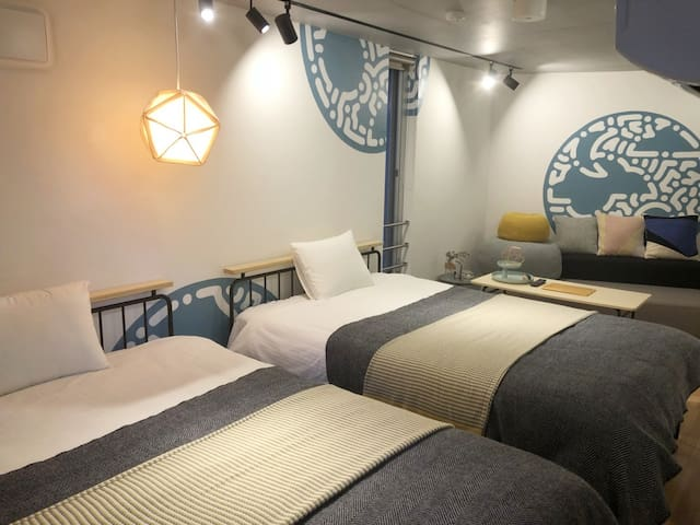4ppl 2Bed 1Sofa FreeWiFi Kitchen Shibuya Shinagawa