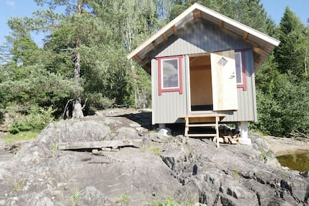 Small cabin on island
