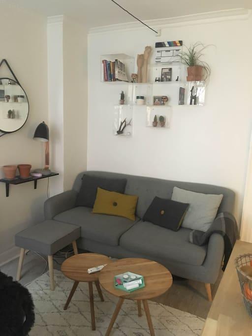 Our sofa/tv-setting