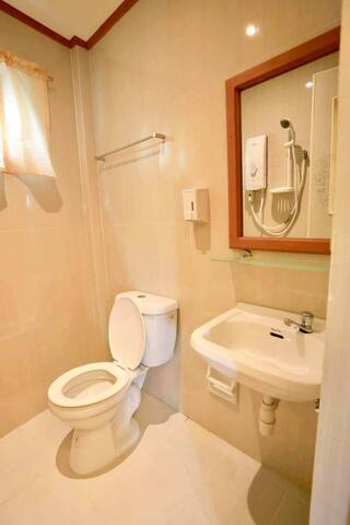 Toilets are available every room. Toilets are available every room.toilet essentials are provided.