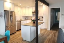 Kitchen and halway to bedrooms