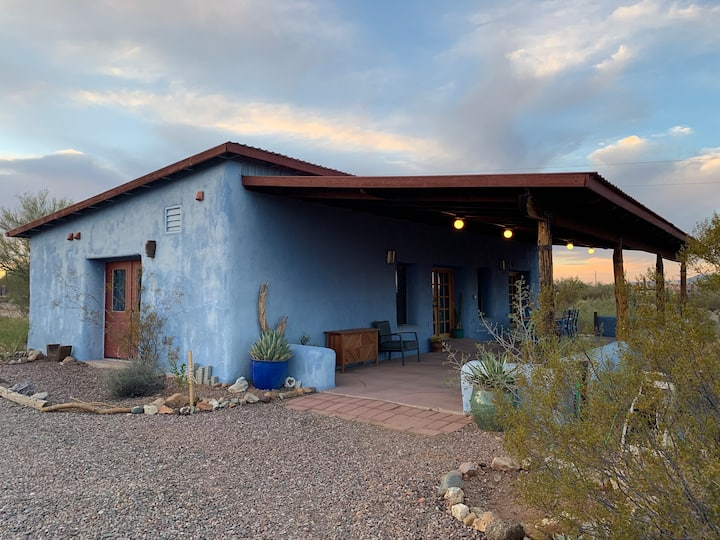 Straw bale guesthouse on Tucson's west side