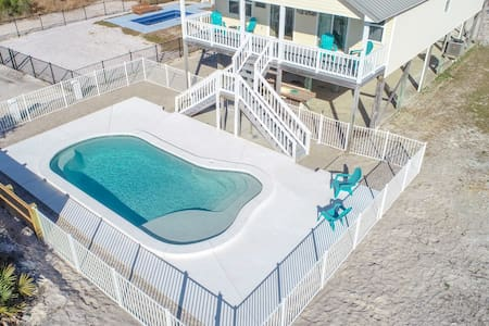 3 BR Pet Friendly Home across the street from beach!