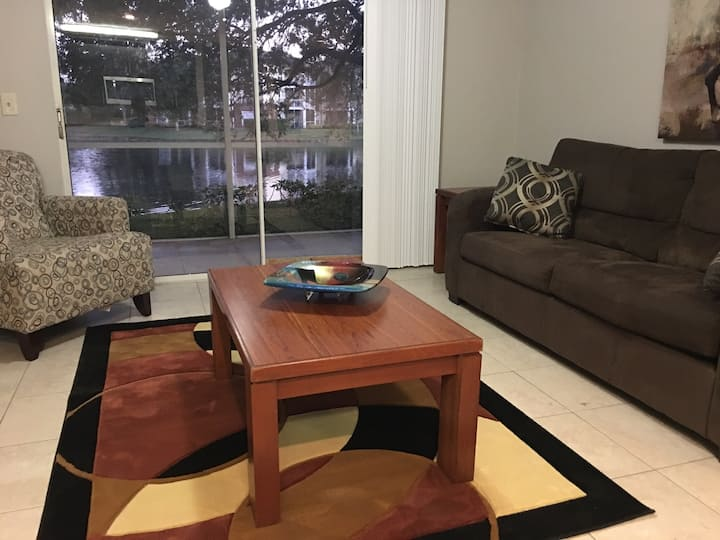 Water view furnished condo