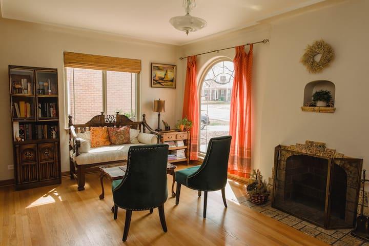 Bohemian Brick Tudor Home in Central Denver