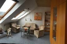 Einzimmer Apartement mit Doppelbett nähe Playmobil
