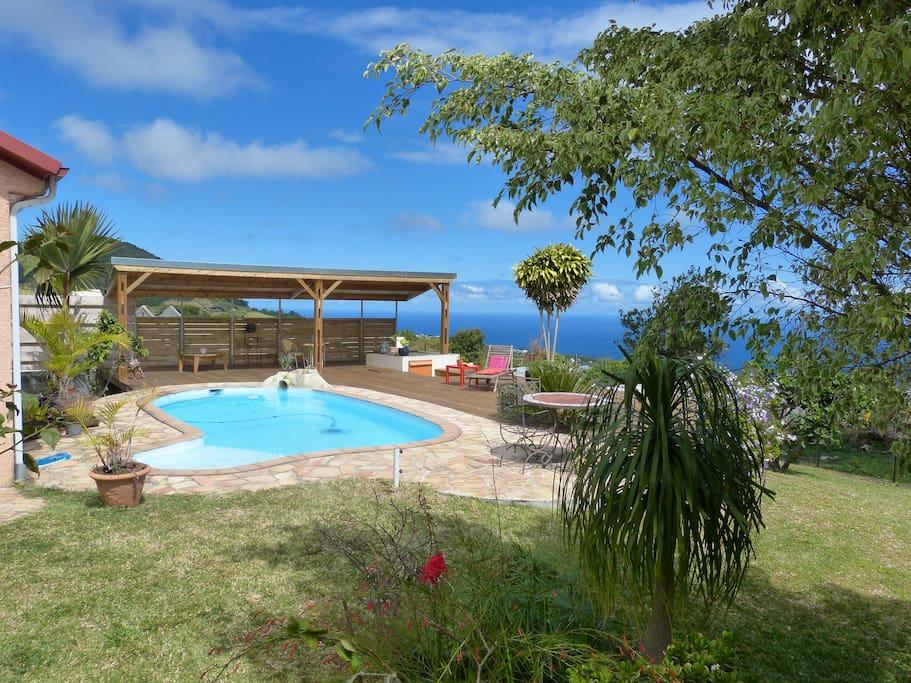 Belle villa calme vue oc an piscine privative maisons for Piscine privative
