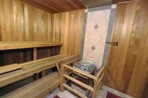 Spacious and clean sauna