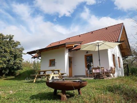 Schmuckes Ferienhaus mit Garten