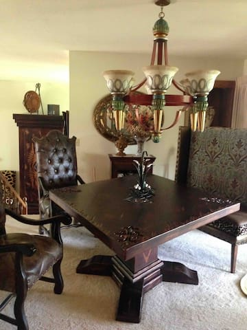 Upstairs Diamond Mahogany Dining Table