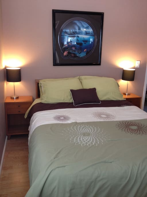 Queen size Bed with memory foam mattress