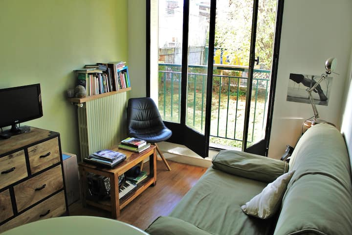 Paris, appartement sur jardin