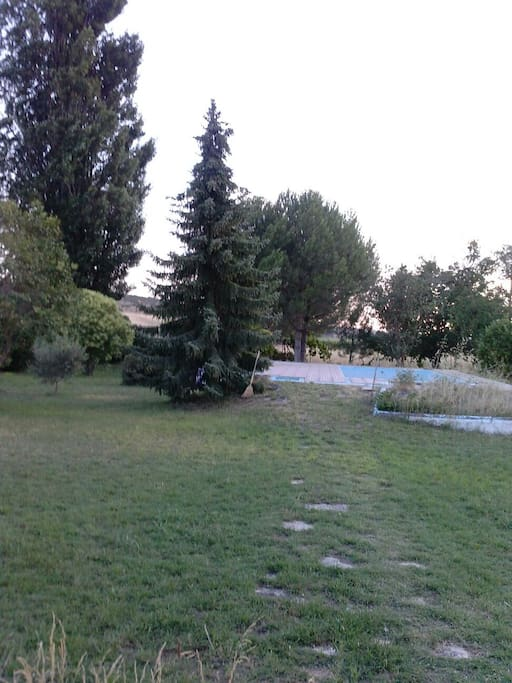 Bonito paisaje rodea la piscina