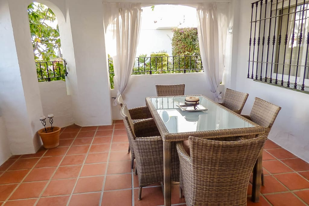 Terrace with perfect dining facilities