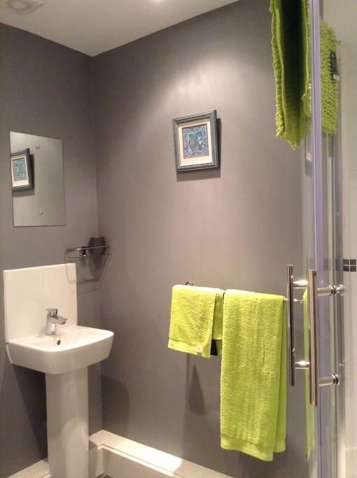 New modern shower