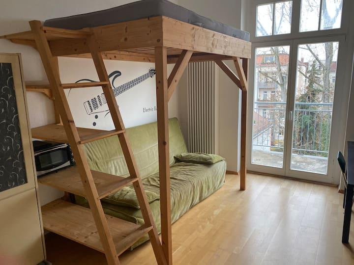ruhige Wohnung in der Südvorstadt, Nähe S-Bahnhof