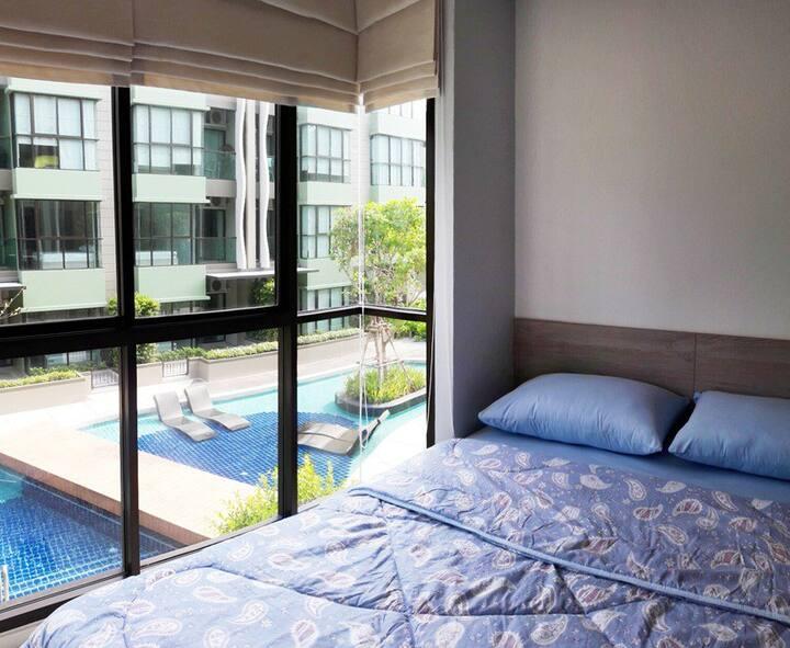 Beach condominium room