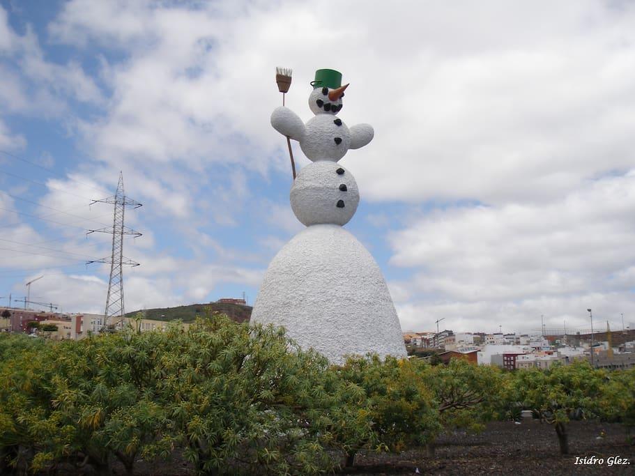 emblematico Muñeco de Nieve (El Sobradillo)