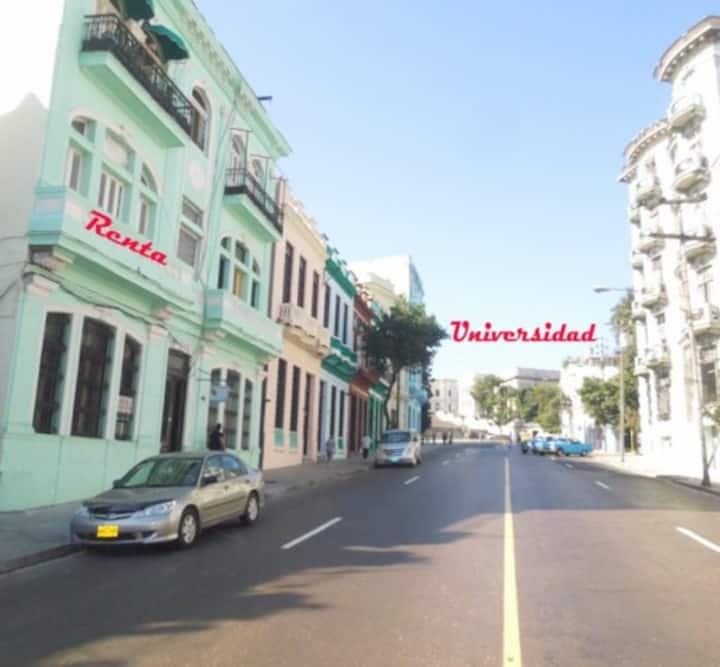 22 dólares diarios habitación en La Habana, Cuba