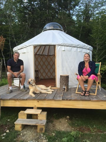 Yurt in Warren Vermont at a Goat farm - Warren