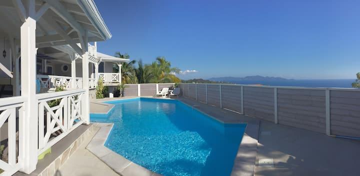 Chambre d'hôtes avec vue panoramique sur la mer