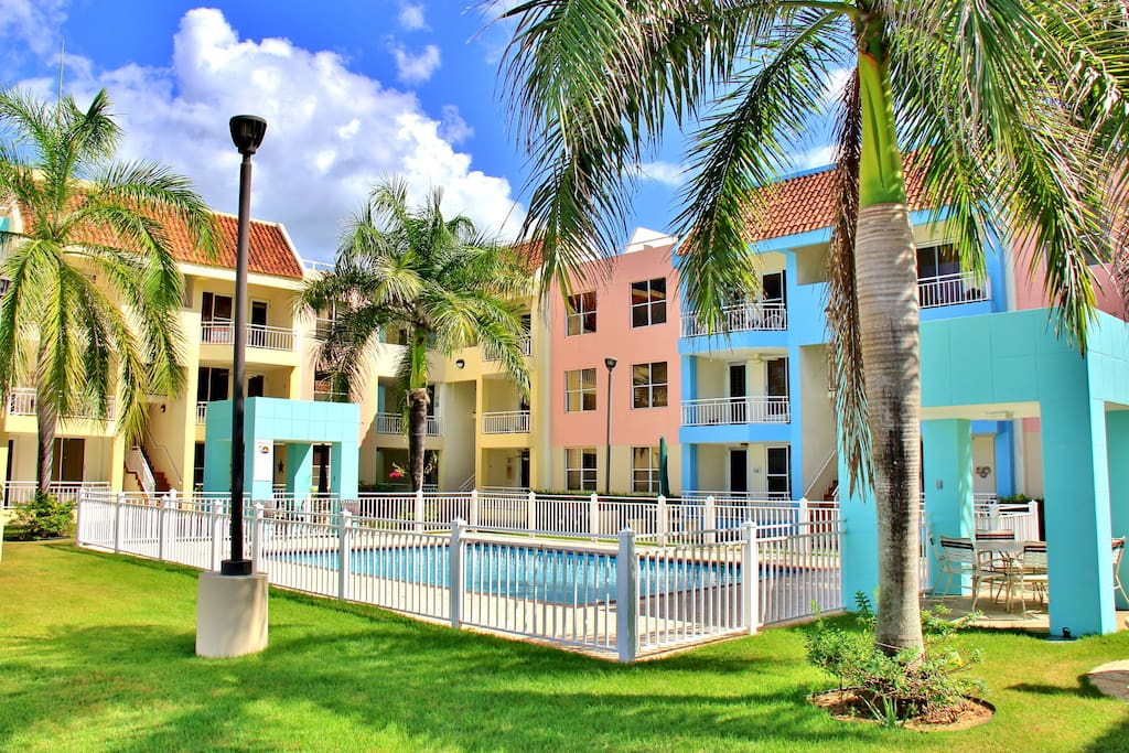 Welcome to Vistamar!  Pool Area & Apartments